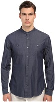 Vince Long Sleeve Drop Hem Banded Shirt