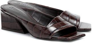 Mercedes Castillo Maise croc-effect leather sandals