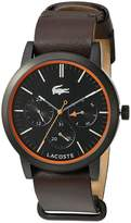 Lacoste Women's 'Metro' Quartz Resin and Leather Automatic Watch, Color: Brown (Model: 2010877)