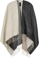 Reiss Lomax Double-Faced Poncho
