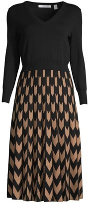 HUGO BOSS Fetra Contrast Knit Dress