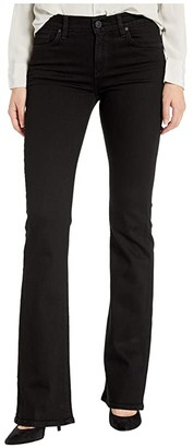 Hudson Nico Mid-Rise Bootcut in Black (Black) Women's Jeans