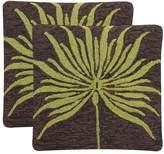 Safavieh 2-piece Leslie Verte Outdoor Throw Pillow Set