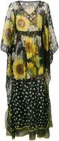 Dolce & Gabbana floral print maxi - women - Silk - 40