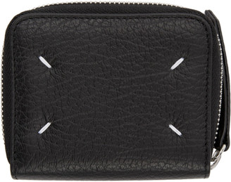 Maison Margiela Black Square Zip-Around Wallet