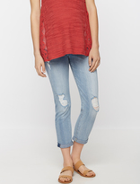 A Pea in the Pod 7 For All Mankind Secret Fit Belly Josephina Destructed Maternity Boyfriend Jeans