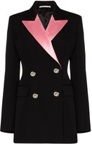 Alessandra Rich double-breasted contrast lapels blazer