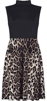 Yumi Leopard Print Skater Dress
