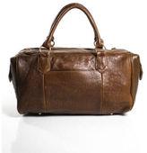 Lauren Merkin Brown Leather God Tone Detail Top Handle Handbag