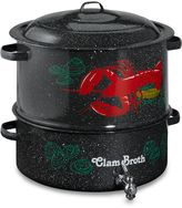 Granite Ware 19-Quart Decorated Clam and Lobster Steamer Pot