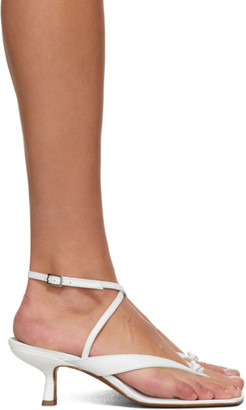 BY FAR White Mindy Heeled Sandals
