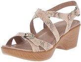 Dansko Women's Julie Taupe Snake Wedge Sandal