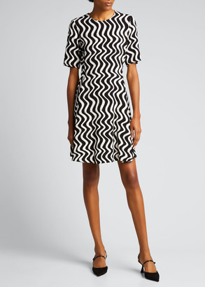 Stella McCartney Liana Wavy Striped Viscose Dress