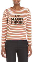 Le Mont St Michel Embroidered Stripe Tee