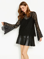 Portmans Lola Lace Bell Sleeve Top