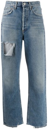 AGOLDE Ripped Stonewashed Jeans
