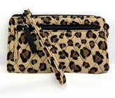 Vera Bradley Leopard Front-Zip Wristlet