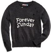 Vintage Havana Girls' Forever Sunday Distressed Sweater