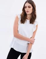 Wallis Frill Sleeve Top