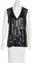 Sachin + Babi Sleeveless Sequin-Embellished Top