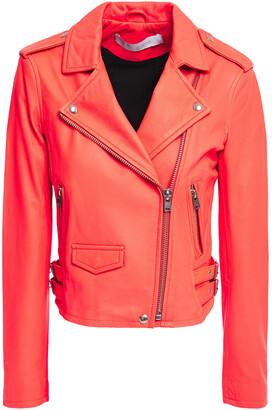 IRO Ashville Cropped Washed-leather Biker Jacket