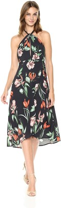 ASTR the Label Women's Luciana Floral Print Halter Midi Dress