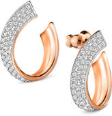 Swarovski Pavé Swirl Stud Earrings