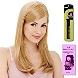 Victoria (Human Hair) by Estetica, Wig Galaxy Hair Loss Booklet & Magic Wig Styling Comb/Metal Pick Combo (Bundle - 3 Items), Color Chosen: R12-26H