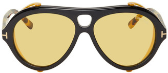Tom Ford Black and Tortoiseshell Neughman Sunglasses