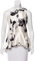 Lela Rose Printed Sleeveless Top