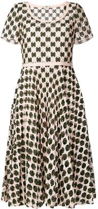 Fendi geometric print flared dress