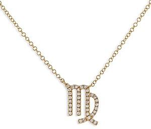 Adina's Jewels Adinas Jewels Pave Virgo Pendant Necklace, 16-18