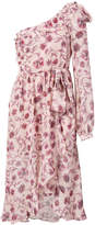 For Love & Lemons one shoulder rose dress