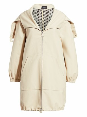 Akris Helen Detachable Tweed Gilet-Lined Parka