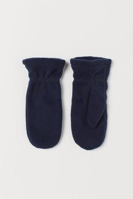 H&M Fleece Mittens - Blue