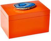 Mapleton Drive Remote Orange Lacquer Box w/ Blue Agate