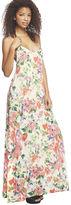 Arden B Watercolor Floral Low Back Maxi Dress