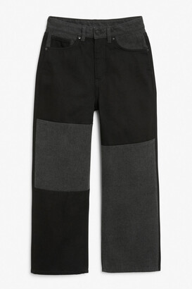 Monki Mozik colour block jeans