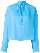 Balenciaga tied collar top