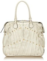 Valentino Pre-owned: Pleated Leather Handbag.