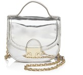 Loeffler Randall Mini Mirror Metallic Saddle Bag