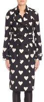 Burberry Sandringham Heart-Print Trench Coat