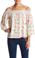 Flying Tomato Floral Cold Shoulder Blouse