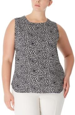 Anne Klein Plus Size Printed Sleeveless Top