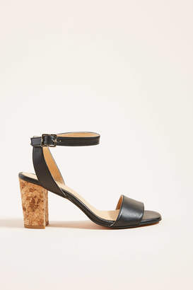 Anthropologie Elizabeth Cork-Heeled Sandals