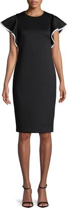 Calvin Klein Collection Cap-Sleeve Sheath Dress