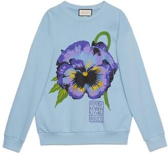 Gucci Ken Scott print cotton crewneck sweatshirt