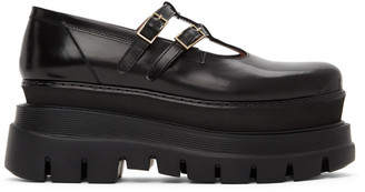 MSGM Black Platform Mary Jane Oxfords