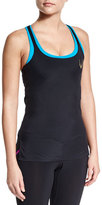 Lucas Hugh Core Performance Crisscross-Back Tank, Black
