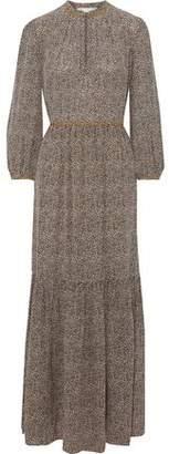 Vanessa Bruno Jazia Gathered Floral-print Silk Maxi Dress